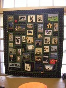 Quilt in honor of the fallen War Dogs of Vietnam
