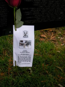 Rose left in honor of Cracker, KIA August 19, 1968 Scout Dog handler: Bob Himrod