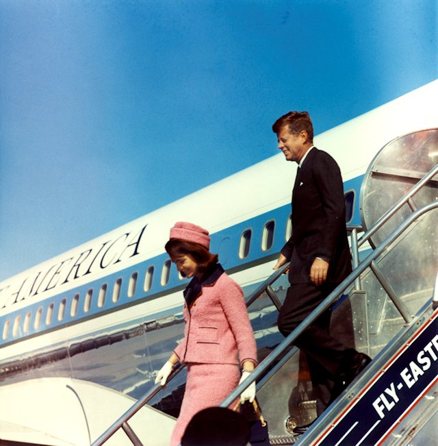 The Kennedy's arrive at Love Field, Dallas, TX. -  22 Nov 1963 Photograph by Cecil Stoughton, White House, in the John F. Kennedy Presidential Library and Museum, Boston