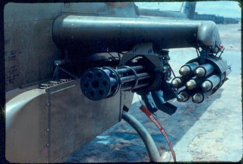 Vulcan cannon installed for Cambodia 1970